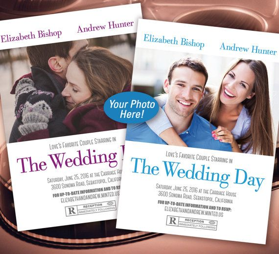 Move Poster You're the Stars Wedding Invitation by IdoWedCreative