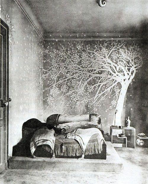 inspiration deco forêt   inspiration déco papier peint arbres forêt