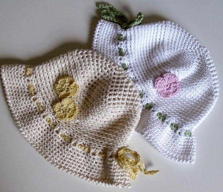Crocheted sun hat