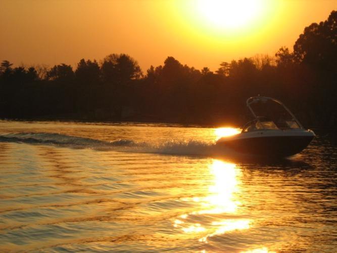 Wonderwaters Sasolburg, Free State. Sunset over the river - just beautiful!