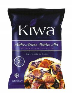 Kiwa Native Andean Potato Crisps Mix 70g - $4.29Kiwa produces all natural healthy snacks and follow earth-friendly practices. Kiwa comes from 'Qiwa' which means 'Green' in Quechua, a native language of the Andean region. Kiwa stands for nature, health, quality and social responsibility.