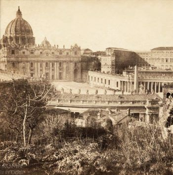 Piazza San Pietro (Henri Plaut, 1859)