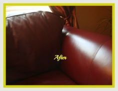 leather couch after cleaning