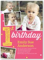 The 25 best first birthday invitations ideas on pinterest 1st baby girl first birthday invitations girl 1st birthday invites shutterfly stopboris Image collections