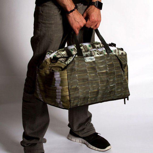 Money Stacks Large Duffle by Sprayground - $64
