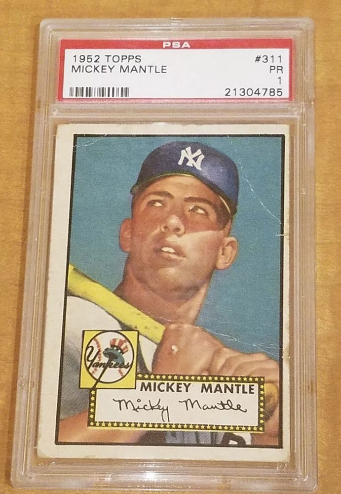 1952 Topps Mickey Mantle New York Yankees 311b Baseball Card Baseball Cards Mickey Mantle Baseball Cards For Sale