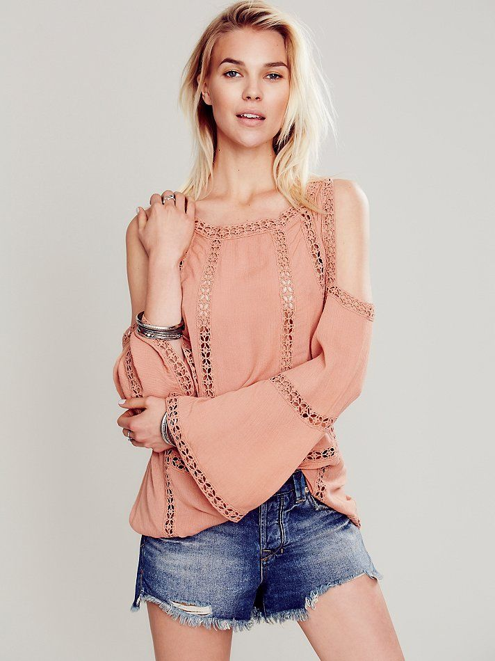 Free People FP ONE Open Shoulder Top, $168.00