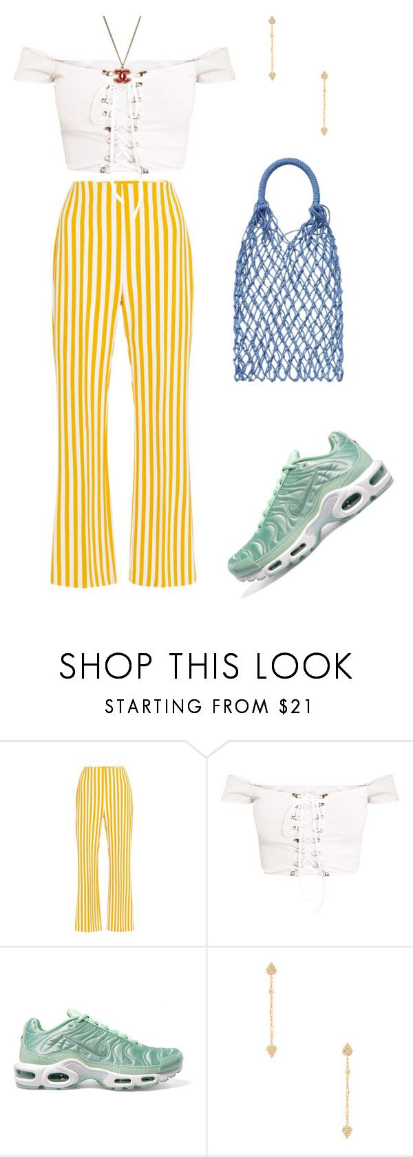 """""""Untitled #1534"""" by lucyshenton ❤ liked on Polyvore featuring Clover Canyon, H&M, NIKE, Luv Aj and Chanel"""