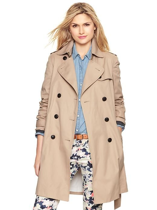 Affordable tan trench coat!