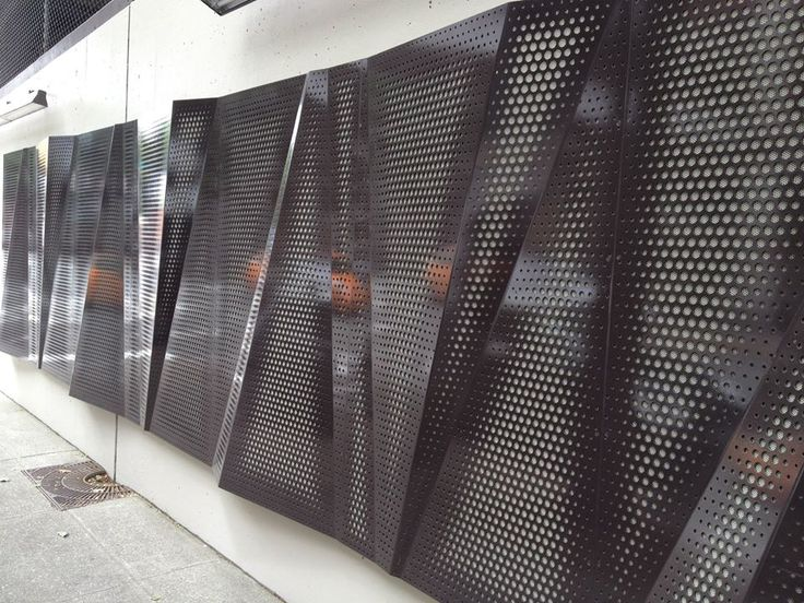 Architectural Wall Systems : Architectural wall systems custom perforation by