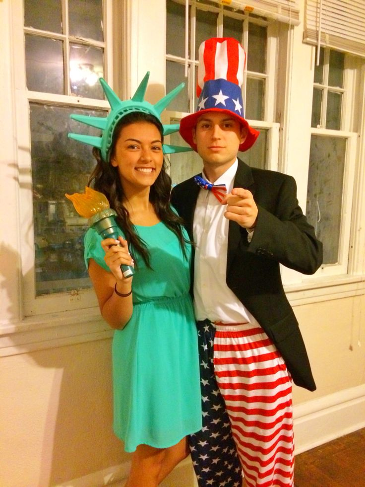 Lady Liberty & Uncle Sam costume for Halloween