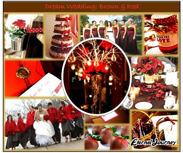 Red Brown Wedding Theme Google Search