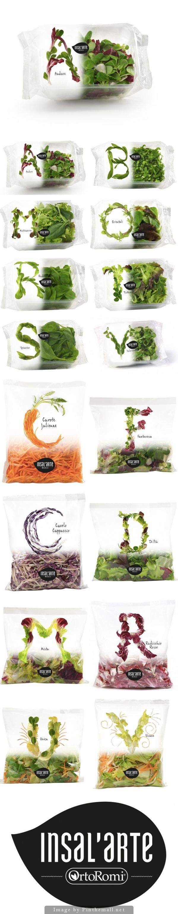 Insal'arte beautiful salad packages