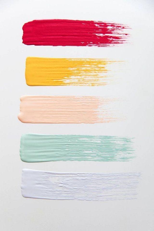 Pallet Of Sorbet Colors For Painting Ilham Renk Ilhami Renk Temalari