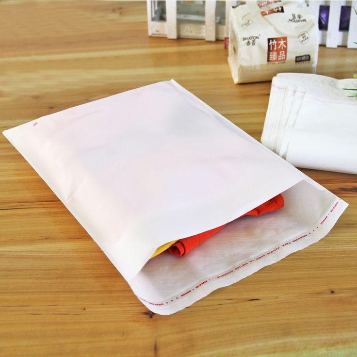 200pcs/lot 20cm*30cm*120Micron High Quality White PE Self Adhesive Bag Gift Bags Plastic Pouch Cloth Bag