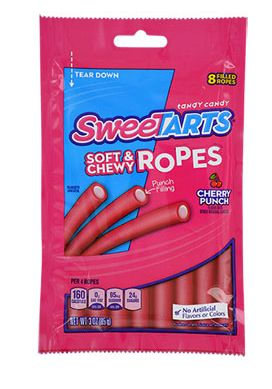 SweeTarts Soft & Chewy Cherry Punch Ropes 3-oz