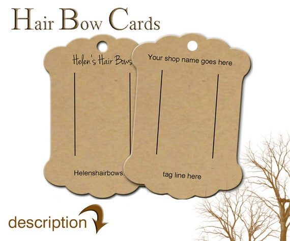 Hair Bow Display Cards Custom Hair Bow Display Barrette Card Bow Cards Bobby Pin Card Product Cards Hair Clip Cards Bow Display Custom Hair Bow Display Cards