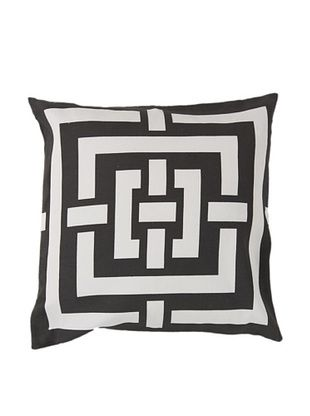 65% OFF Surya Geometric Throw Pillow, Dark Forest/Ivory