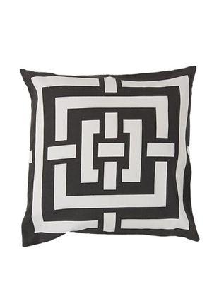77% OFF Surya Geometric Throw Pillow, Dark Forest/Ivory