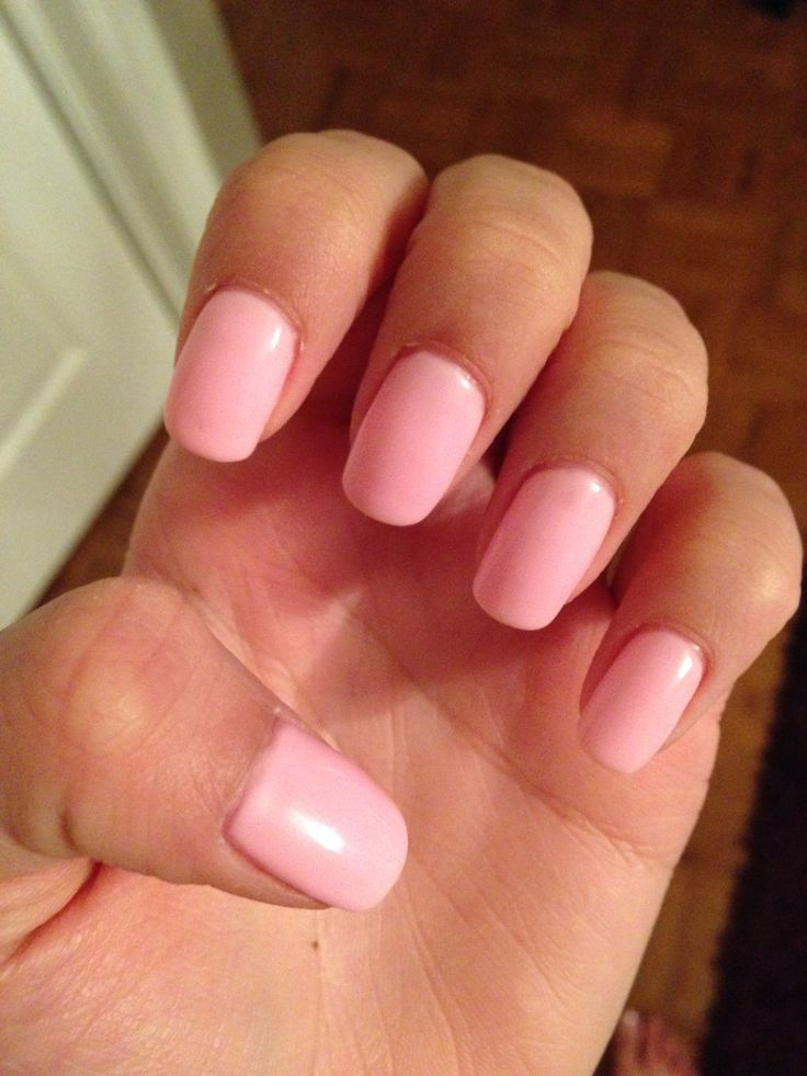 Light pink shellac nails | Recruitment!! | Pinterest