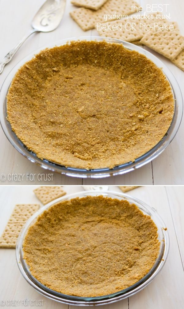The Perfect Graham Cracker Crust for bake or no-bake recipes!