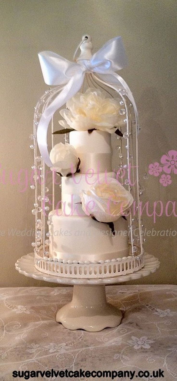 The Sugar Velvet Cake Company Miniature Birdcage (Copy) (Copy)