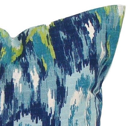 BLUE GREEN PILLOW Sale.12x16 or by ElemenOPillows on Etsy