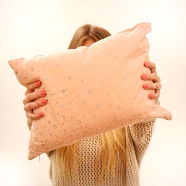 Get your hands on our Lover Hearts pillow  #dECOrate4change