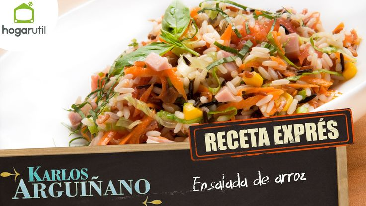 Receta exprés: Ensalada de arroz de Karlos Arguiñano