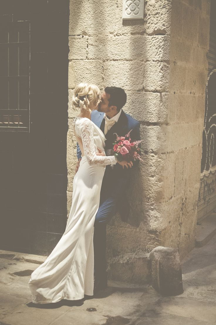 An Intimate And Luxurious Destination Wedding In Barcelona With A Suzanne Neville 'Regency' Dress And A Jenny Packham 'Valentine' Headpiece.