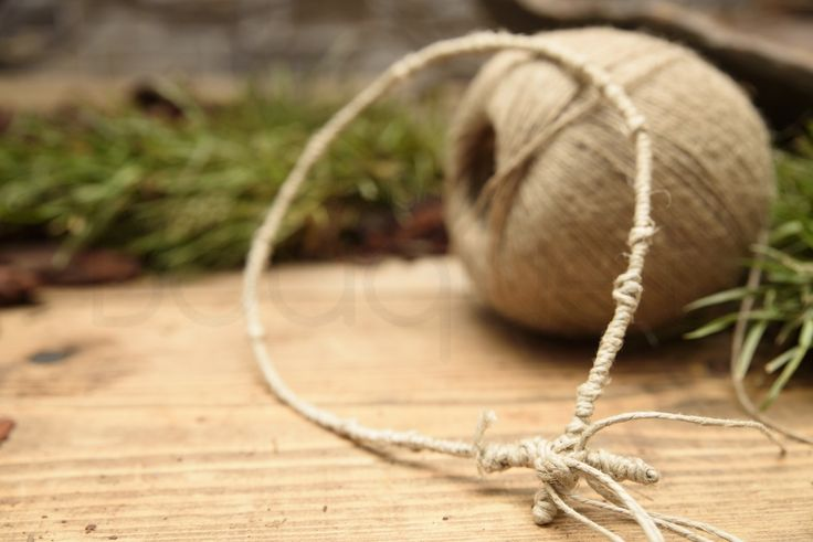 Rustic wedding wreaths - Stefana made of natural string.