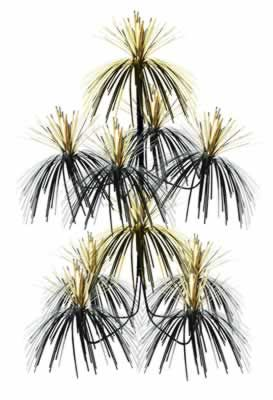 Nero e Oro 61cm Fuochi d'artificio Lampadario Pendente Decorazione