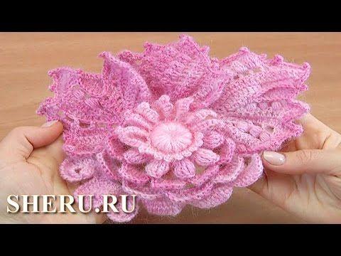 Фриформ, вязание цветочного скрамбла. Мастер класс 7 - YouTube