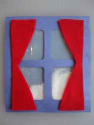 In this Winter Window the snow really falls! This is a great craft for preschoolers and kindergartners to practice their scissor skills, but all children will love watching the snow fall! The Winter Window is symmetrical, turn it either way and the snow will keep falling!