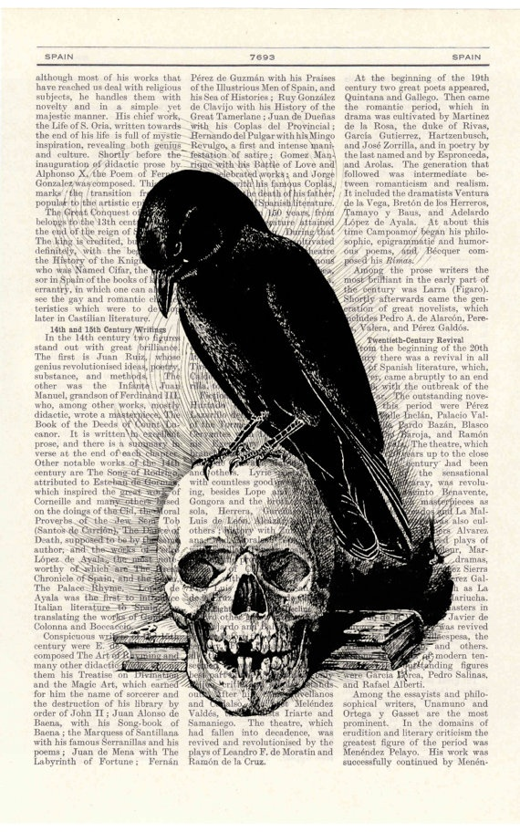 Crow on the Skull ~ by PRRINT