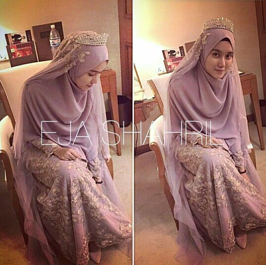 Dusty purple!! Islamic wedding concept by Ejashahril