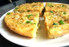 Recipe Polenta Omelette How to Create Omelette Without Egg Vegan Potato Leek Breakfast Omelette