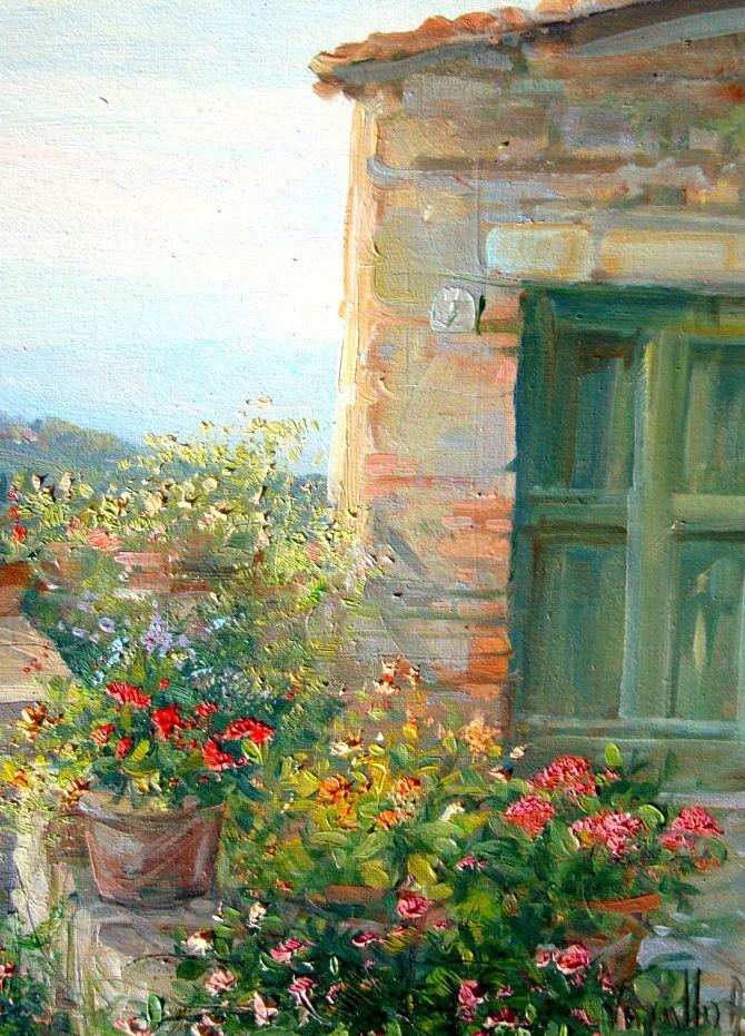 ✿Flowers at the window & door✿ Antonietta Varallo