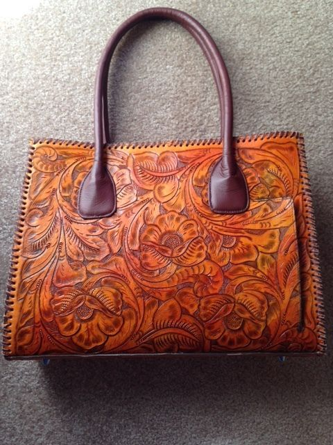NWT New Juan Antonio Conceal Carry Handbag Purse Tooled Leather Western USA Made in Clothing, Shoes & Accessories, Women's Handbags & Bags, Handbags & Purses   eBay