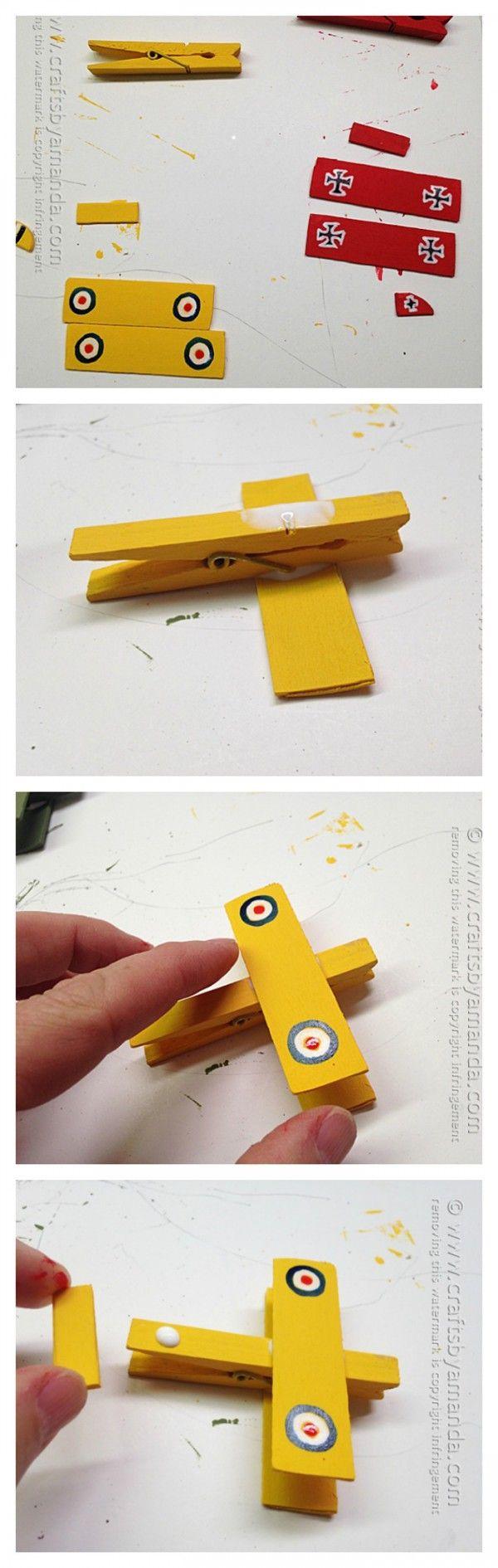 Excelente idea para hacer los aviones de Snoopy :D