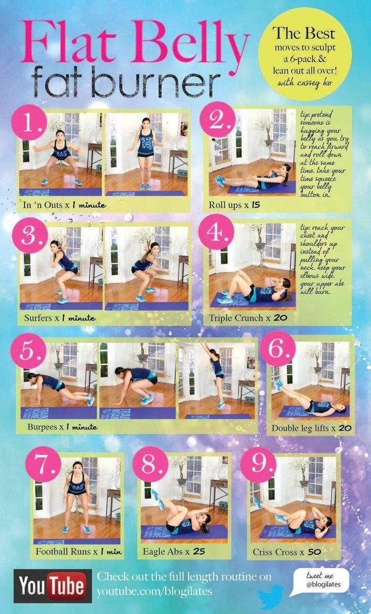 flat belly fat burner workout // blogilates // fitness