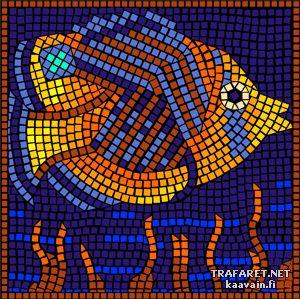 Kala parrotfish (mosaiikki) | Sabluuna malleja | sapluuna monikertaiseen käyttöön