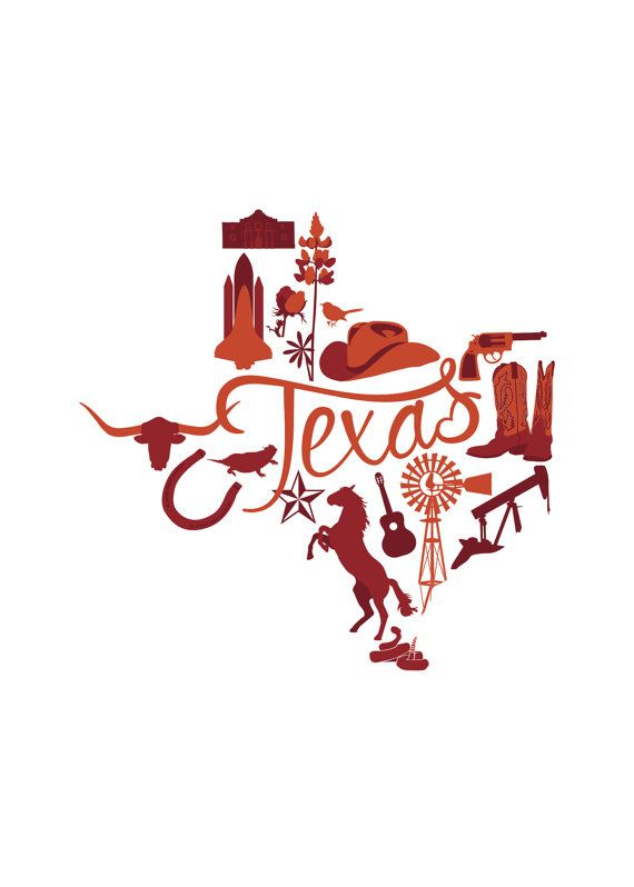 State Vector Series Texas by TheNomadCreative