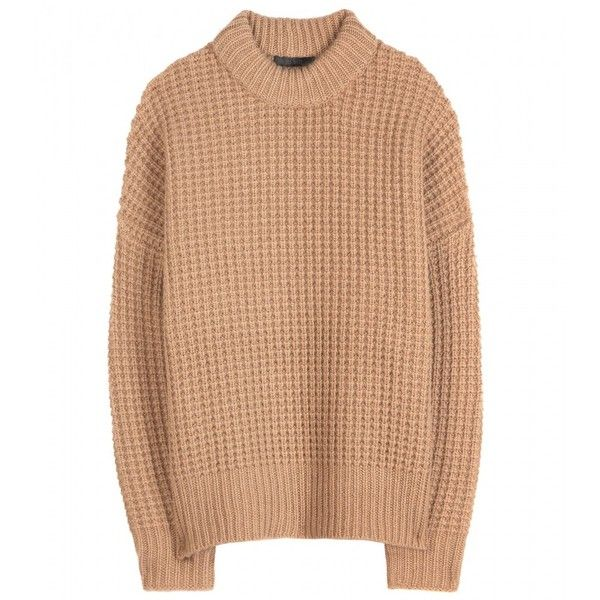 The Row Alina Camel-Hair and Cashmere Sweater (1,240 CAD) ❤ liked on Polyvore featuring tops, sweaters, jumper, shirts, beige, cashmere tops, camel cashmere sweater, cashmere shirt, camel top and beige shirt