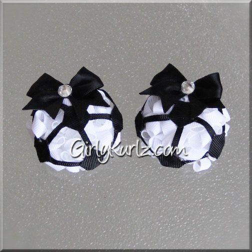 MINI Soccer Hair Bow Soccer Hair Clip Soccer World Cup Bow