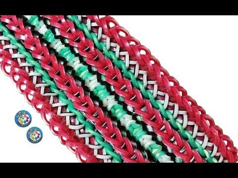 "Cute & Fun DIY Rainbow Loom by Deb's Thing ""CINNAMON RIBBON"" Bracelet Jewelry How To (ref #7h) - YouTube"