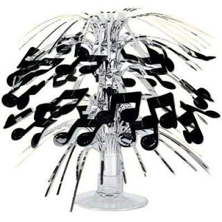 28 - Rock N Roll Mini Musical Notes Cascade Centerpiece Centrepiece Cascade Musical Notes Mini (21cm) - Each