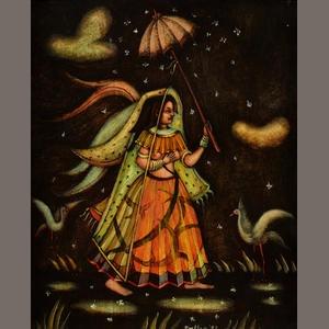 Alexis Preller (South African, 1911-1975) Girl in the rain