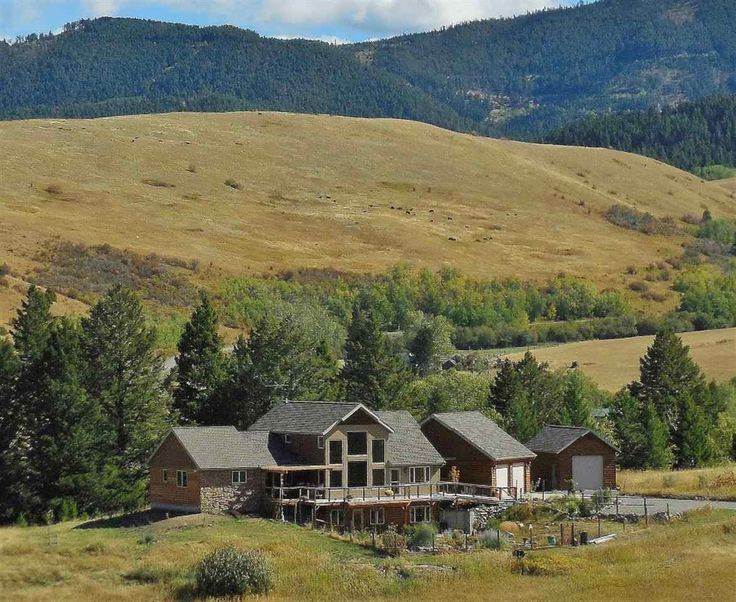 Not Listed - Stunning custom home near Bozeman in Gallatin Gateway, Montana: 4.2 acres backing to creek nestled at the base of the Gallatin Mountains. End of road location, USFS 1/4 mile away, fishing access close by and located between Bozeman and Big Sky.