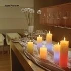 Candles made with parrafin wax (petroleum) put carcinogens into your home's air.